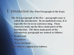 the traditional five paragraph essay ppt video online i introduction the first paragraph of the essay