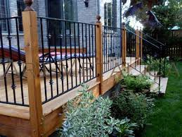 metal deck railing designs iron deck railing systems ideas designs styles