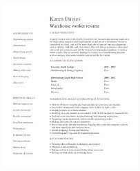warehouse job resume sample entry level resume example for warehouse worker  warehouse worker resume objective examples . warehouse job resume ...