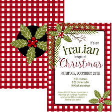 Christmas Holiday Invitations Italian Christmas Holiday Invitation