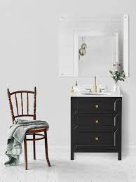 Chester 28 Inch Black Cabinet Solid Wood Cabinets Furniture Finishes Wall Hung Bathroom Vanities