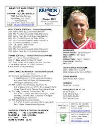 Softball Player Profile Template Softball Profile Sample Player Profile Central Pennsylvania Krunch
