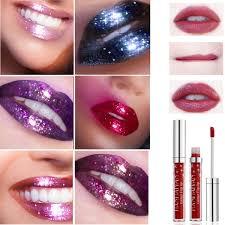 <b>HANDAIYAN Shimmer Glitter Lip Gloss</b> Sexy Chameleon Gold Metal ...
