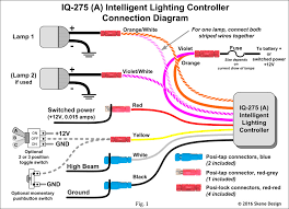 wiring driving lights to high beam switch wiring iq 275 intelligent lighting controller smart dimmer on wiring driving lights to high beam switch