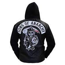 sons of anarchy hooded leather jacket sons of anarchy hooded leather jacket