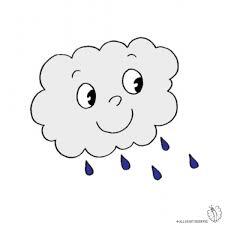 Disegno Di Nuvola Con Pioggia A Colori Per Bambini