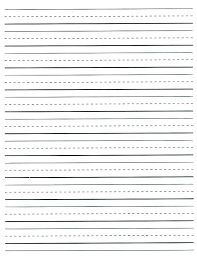 Primary Letter Writing Paper Handwriting For Kindergarten Templates Kindergarten Writing