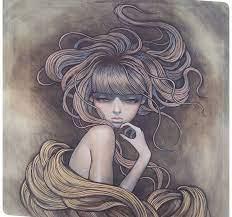 artwork, black hair, Japanese Art ...
