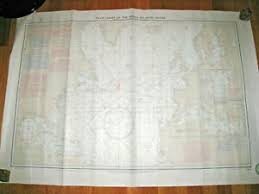Details About Pilot Chart Of The North Atlantic Ocean Buoyage Beaconage 1400 1967 Nautical