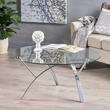 marin round glass coffee table by christopher knight home round glass coffee tables glass coffee