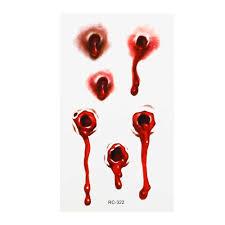 хэллоуин кровавые пули ран татуировка шрамы наклейки