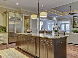 Center Island Design Ideas Kitchen Brown Wooden Kitchen Island With Curving Top Plus