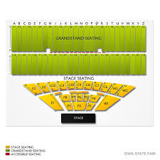 Grandstand Iowa State Fair Seating Chart Iowa State Fair 2019 Seating Chart