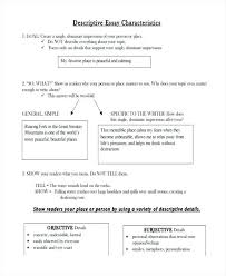 Examples Of Descriptive Essay About A Place Writing A Descriptive Essay Examples Descriptive Essay Writing Help