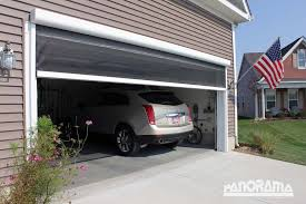 retractable garage screen stoett roll up garage door screen
