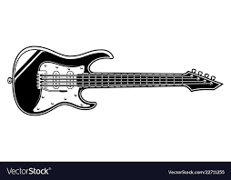 Black And White Of Electric Guitar