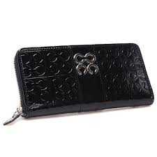 Cheap Coach Logo Monogram Large Black Wallets Chq Sale TjiMr
