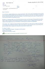 Letters Of Gratitude To The Principal