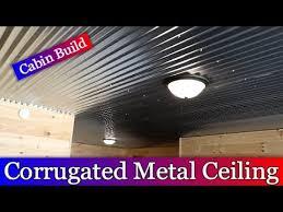 log home build episode 26 corrugated metal basement ceiling
