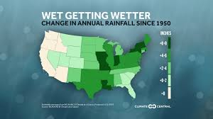 California Annual Rainfall Chart Annual Rainfall Increasing In Most U S States Climate Central