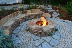 fieldstone patio rustic with natural stone fire pit tables flagstone patios38 flagstone