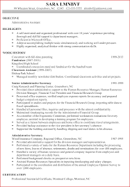 Elegant Administrative Assistant Objective Samples Personal Leave