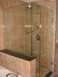 inspiring frameless shower door for modern bathroom