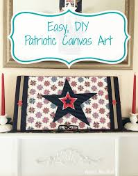 easy diy patriotic wall art on canvas on patriotic canvas wall art with easy diy patriotic wall art on canvas across the blvd