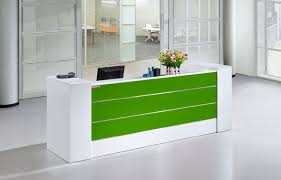 high end office furniture white small modern office front desk counter