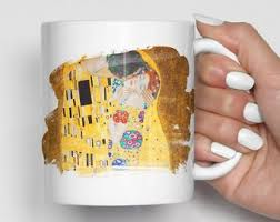 gustav klimt mug klimt the kiss art mug office gifts housewarming gift coffee mug kitchen decor art painting mugs art coffee mug klimt art