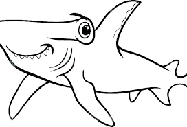 Printable Shark Coloring Pages Houseofhelpccorg