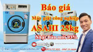 Báo giá máy giặt công nghiệp Asahi 25kg cũ nhật bãi rẻ nhất tại Hà Nội -  YouTube