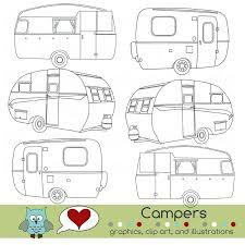 Camper Trailer Coloring Pages Coloring Book Color Me A Happy Camper