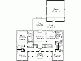 Eplans Country House Plan   A Pleasing Symmetrical Country Home    Level