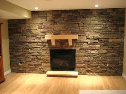 stone veneer interior wall installing