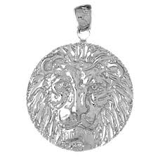 sterling silver 925 lion head pendant sterling silver pendants at jewelsobsession com