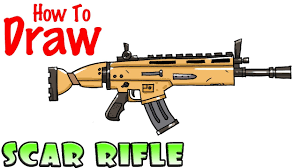 How To Draw The Scar Rifle Fortnite Youtube