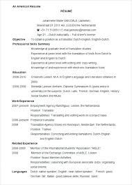Word Doc Resume Templates Format Word Free Professional Format In Ms