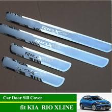 <b>Накладки на пороги</b> RIO X LINE из нержавеющей стали ...