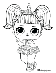 Lol Doll Coloring Pages Pets Unicorn Surprise Doll Coloring Page