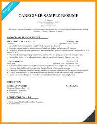 Private Caregiver Sample Resume Ha