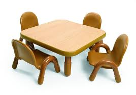amazoncom angeles toddler table  chair set natural toys  games