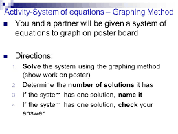 solution check your answer activity system of equations graphing method