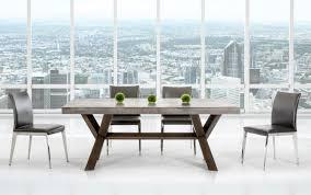 Rectangular Concrete And Acacia Base Dining Table Houston Texas Vig