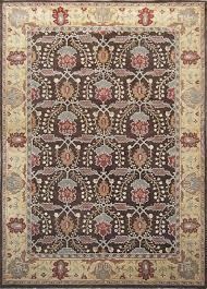 rugsville brandon arts crafts brown beige wool rug 11829 11829