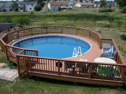above ground round pool with deck. Interesting Ground Round Pool Decks 40 Uniquely Awesome Above Ground Pools With Throughout Deck O