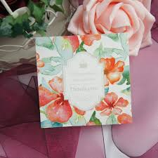 Summer Thank You 50pcs Mini Thank You Summer Orange Flower Diy Card Message Cards