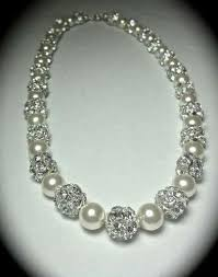 gold party wear diamond pearl necklace