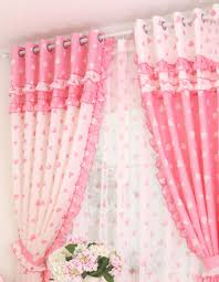 Good Sweet Pink Bedroom Curtains For Girls Bedroom Accessories : Appealing  Princess Heart Motif Pink Bedroom Curtain With Cotton Material And Pastoral  Style In ...