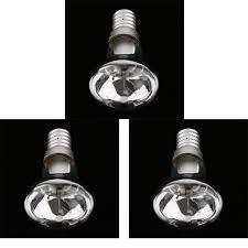 Perfk 3x R39 E14 Lava Lamp Reflector Clear Light Bulb Spotlight Bulb 25w